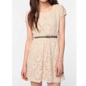 Coincidence and Chance Lacy Ivory Mini Dress